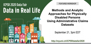 Methods and Analytic Approaches for Physically Disabled Persons Using Administrative Claims Dataset