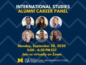Program in International and Comparative Studies Fourth Annual International Studies Virtual Alumni Career Panel