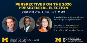 Event flyer for Perspectives on the 2020 Presidential Election