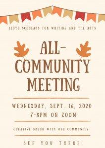 Sept. 16 All-Community Meeting