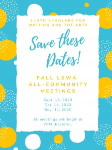 Fall All-Community Meeting Dates