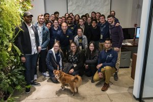 Students visiting IA Ventures in D.C.