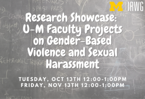 Research Showcase_ U-M Faculty Projects on Gender-Based Violence and Sexual Harassment