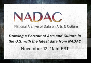 Announcement of webinar arts and culture data November 4 2020 from ICPSR