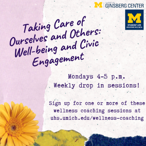 Flowers and details for drop-in sessions