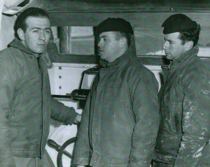 Bernie, Richard and Andy - Coastguardsmen involved in the heroic rescue