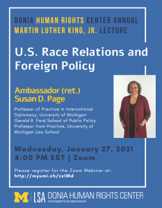 Donia Human Rights Center Annual Martin Luther King, Jr. Lecture. U.S. Race Relations and Foreign Policy