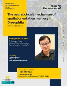 Chung-Chuan Lo, Ph.D. -  Professor and Director, Institute of Systems Neuroscience, National Tsing Hua University, Taiwan