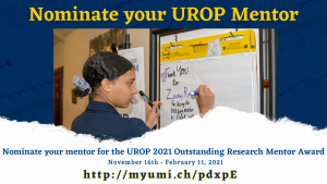 UROP Outstanding Mentor Nomination