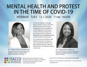 Announcement for Mental Health and Protest in the Time of Covid-19