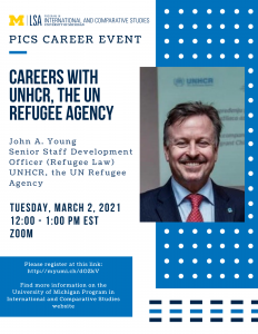 PICS Career Event. Careers with UNHCR, the UN Refugee Agency
