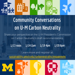 Community Conversations on Carbon Neutrality event graphic