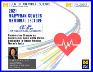 Tene Lewis presents 2021 MaryFran Sowers Memorial Lecture