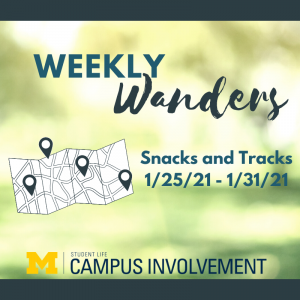 Grab a snack while you make some tracks!