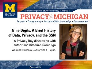 Privacy@Michigan Webinar - Speaker: Sarah Igo