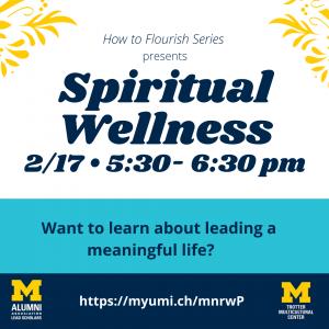 How to Flourish - Spiritual Wellness