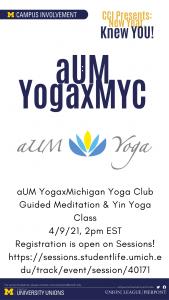 aUMxMYC Guided Meditation & Yin Yoga Class