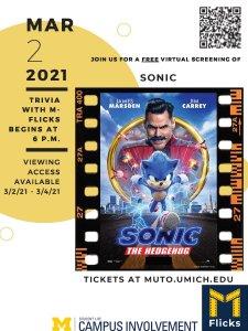 Sonic virtual screening with trivia on 3/2/21