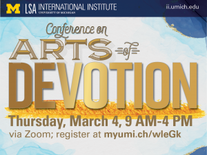 II Conference on Arts of Devotion poster