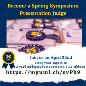 Spring Symposium Judge - Blue Ribbon Award