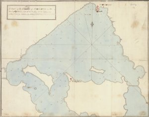A chart of the bay of Marmorice on the coast of Anatolia… from an actual survey taken in 1801. Clements Library Image Bank.
