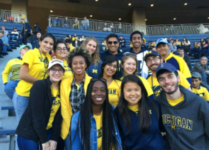 A group of MCSP students at an athletic event