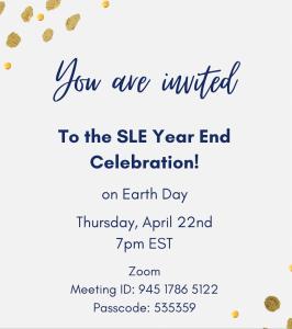 SLE Year End Celebration Invitation