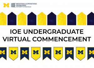 "IOE logo with text that reads ""IOE Undergraduate Student Virtual Commencement"""