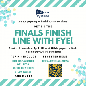 Finals Finish Line with FYE!