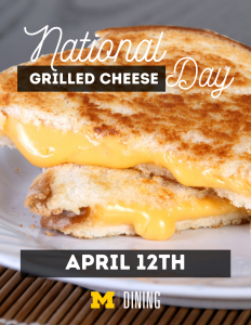 Grilled Cheese Day!