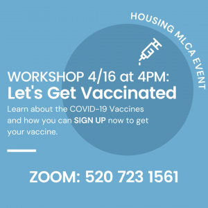 Flyer sharing information about the vaccine resources program.