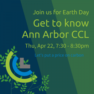 graphic with leaves, CCL logo, and title, date and time of event