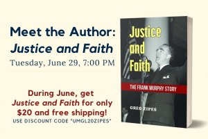 """Cover of """"Justice and Faith"""""""