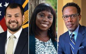 L-R: Farouk Ophaso, Kenita Williams, and David C. Wilson