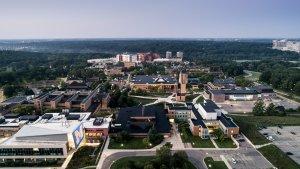 Aerial photo of North Campus.