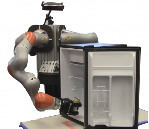 Robot reaching into a fridge