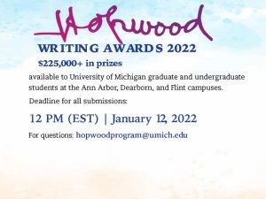 Hopwood Awards flyer