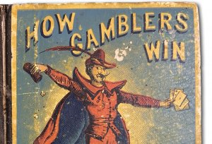 """Cover Detail from """"How Gamblers Win,"""" an 1868 book available for adoption."""