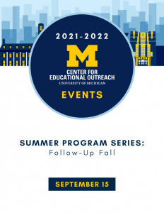 Event graphic with date