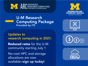The UMRCP is now available - sign up today via the ARC website, https://arc.umich.edu/UMRCP!