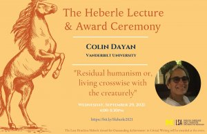 The Heberle Lecture & Award Ceremony 2021