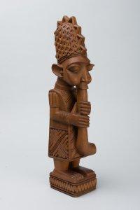 <p>Lamidi Fakeye, <em>Flute Player</em>, before 1967, carved wood. University of Michigan Museum of Art, Gift of Lynn and Warren Tacha, 2019/2.80 © Lamidi Fakeye</p>