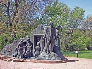 Underground Railroad Monument in Battle Creek, MI