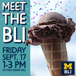 Picture of Ice Cream with the text Meet the BLI