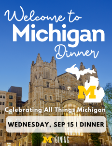 Welcome to Michigan Dinner