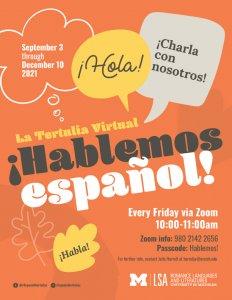 La Tertulia Virtual flyer
