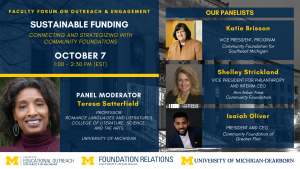 Event flyer with panelist photos