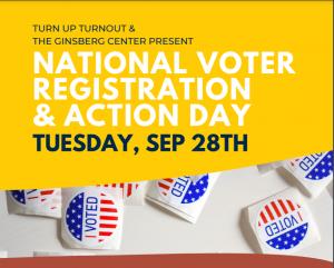 Flyer with description of National Voter Registration Event
