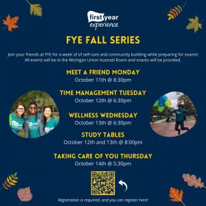 FYE Fall Series Flyer