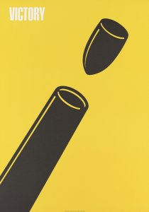 <p>Shigeo Fukuda, <em>Victory (Reproduction)</em>, 1976, screenprint on paper. University of Michigan Museum of Art, Gift of the DNP Foundation for Cultural Promotion, 2017/2.86</p>